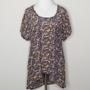 Anthropologie | Lil Silk Floral Blouse | 8